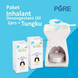 Pure Kids - Paket Inhalant Desongestant Oil 2pcs + Tungku
