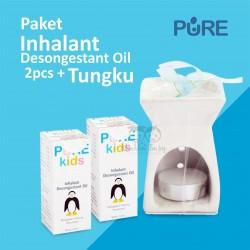 Pure Kids - Paket Inhalant Desongestant Oil 2pcs + Tungku