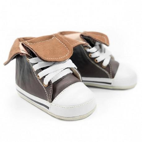 Helomici - Prewalker Shoes HITop Sneakers - Brown