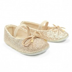 Helomici - Prewalker Shoes Ballerina - Gold