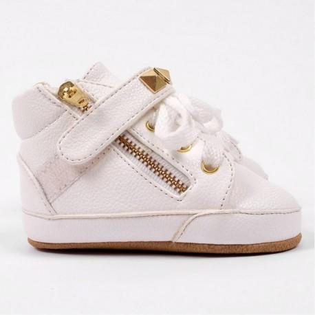 Helomici - Prewalker Shoes Little SWAG - White
