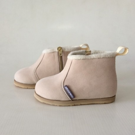 Helomici - Toddler Shoes Winter Boots - Cream