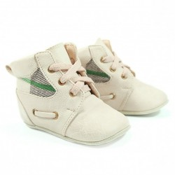 Helomici - Prewalker Shoes Russell Boots - Cream