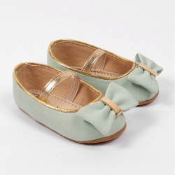 Helomici - Prewalker Shoes Big Ribbon - Mint