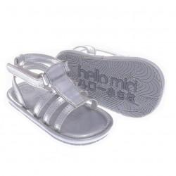 Helomici - Prewalker Shoes Strap Sandal - Silver
