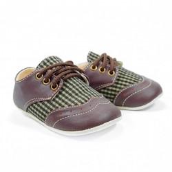 Helomici - Prewalker Shoes Wingtip - Brown