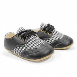 Helomici - Prewalker Shoes Wingtip - Black