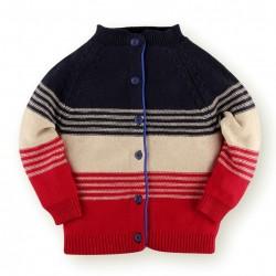 Helomici - Knitwear 3 Tone Cardigan