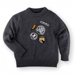 Helomici - Knitwear Little Badge Boy - Dark Gray