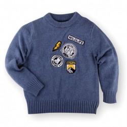Helomici - Knitwear Little Badge Boy - Blue