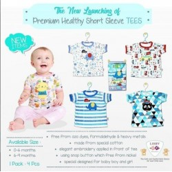 Libby Premium - Short Sleeve Tees (4 pcs/pack) - Boy - 0-6 Month