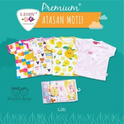 Libby Premium - Jumper Segitiga (4 pcs/pack) - Girl - 6-9 Month