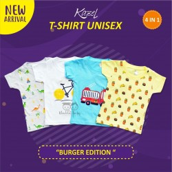 Kazel - Tshirt Unisex (4 pcs/Pack) - Burger Edition