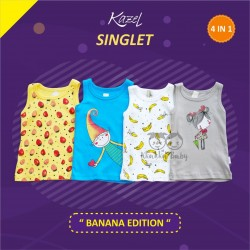 Kazel - Singlet (4 pcs/pack) -  Banana Edition