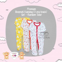 Libby Premium - Sleepsuit Kancing (3 pcs/pack) - Girl - 18-24 Month