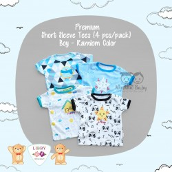 Libby Premium - Short Sleeve Tees (4 pcs/pack) - Boy - 6-9 Month