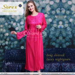 Sorex - Long Sleeved Lacey Nightgown / Baju Tidur Sorex 7040
