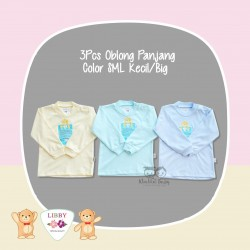 Libby - 3Pcs Oblong Panjang - Color SML Kecil