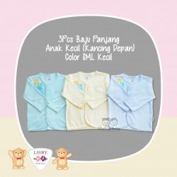 Libby - 3Pcs Baju Panjang Anak Kecil (Kancing Depan) - Color SML Kecil