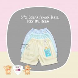 Libby - 3Pcs Celana Pendek Biasa - Color SML Besar