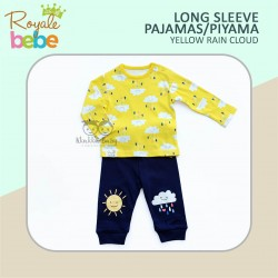 Royale Bebe - Long Sleeve Pajamas / Piyama - Yellow Rain Cloud