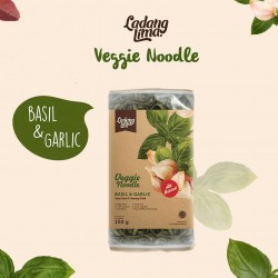 Ladang Lima - Veggie Noodle Basil & Garlic 150Gram