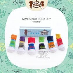 Petite Mimi - 6Pairs Box Sock Boys - Racing