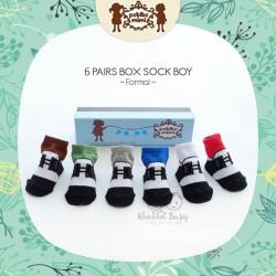 Petite Mimi - 6Pairs Box Sock Boys - Formal