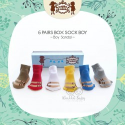 Petite Mimi - 6Pairs Box Sock Boys - Boy Sandal