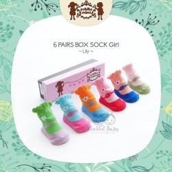 Petite Mimi - 6Pairs Box Sock Girls - Lily