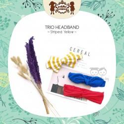 Petite Mimi - Trio Headband - Striped Yellow