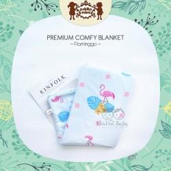 Petite Mimi - Premium Comfy Blanket - Flaminggo