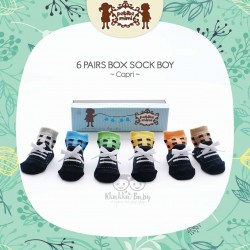 Petite Mimi - 6Pairs Box Sock Boys - Capri
