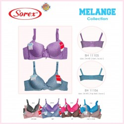 Sorex - Bra Sorex Melange Collection 11106 (Tanpa Kawat) - BlueGray