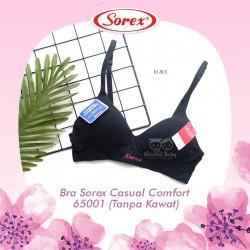 Sorex - Bra Sorex Casual Comfort 65001 (Tanpa Kawat) - Black