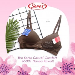 Sorex - Bra Sorex Casual Comfort 65001 (Tanpa Kawat) - Coffee