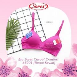Sorex - Bra Sorex Casual Comfort 65001 (Tanpa Kawat) - Hot Pink