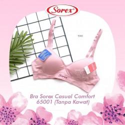 Sorex - Bra Sorex Casual Comfort 65001 (Tanpa Kawat) - Pink