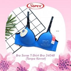 Sorex - Bra Sorex T-Shirt Bra 34048 (Tanpa Kawat) - Blue