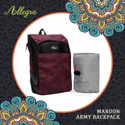 Allegra - Maroon Army Backpack