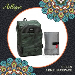 Allegra - Green Army Backpack