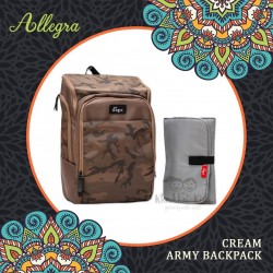 Allegra - Cream Army Backpack