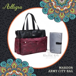 Allegra - Maroon Army City Bag