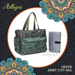 Allegra - Green Army City Bag