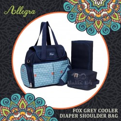 Allegra - Foxie Grey Cooler Diaper Shoulder Bag
