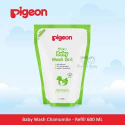 Pigeon - Baby Wash Chamomile - Refill 600 ML (Paraben Free)