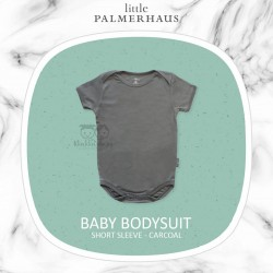 Little Palmerhaus - Baby Bodysuit Short Sleeve (Jumper) - Charcoal