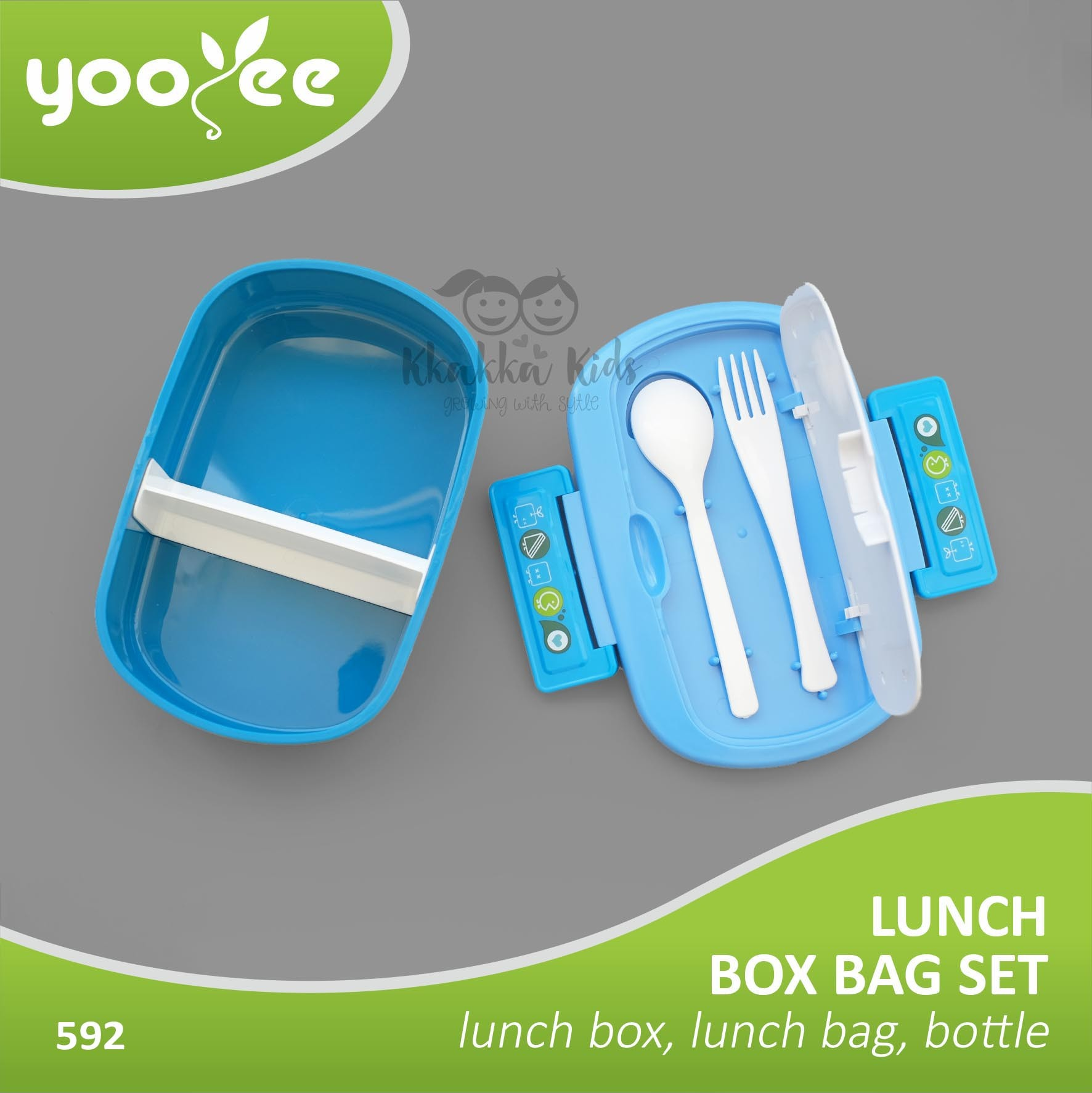 Tempat Jual Lunch Box Yooyee Update 2018 Kotak Makan 4 Sekat Sup Item 415 Bag Setleak Proof Water Bottle Kkakkakids Kkakkababy