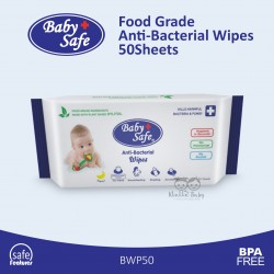 Baby Safe - Food Grade Anti-Bacterial Wipes BWP50 - 50Sheets
