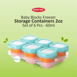 OXO Tot Baby Blocks Freezer Storage Containers 2oz 2 Oz / 6x60ml